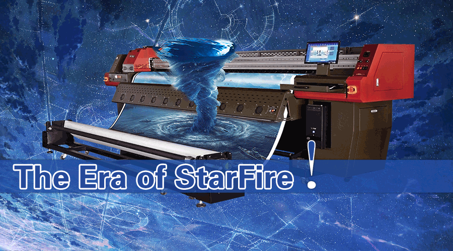 The era of starfire! (ultra Star 3308 solvent printer)